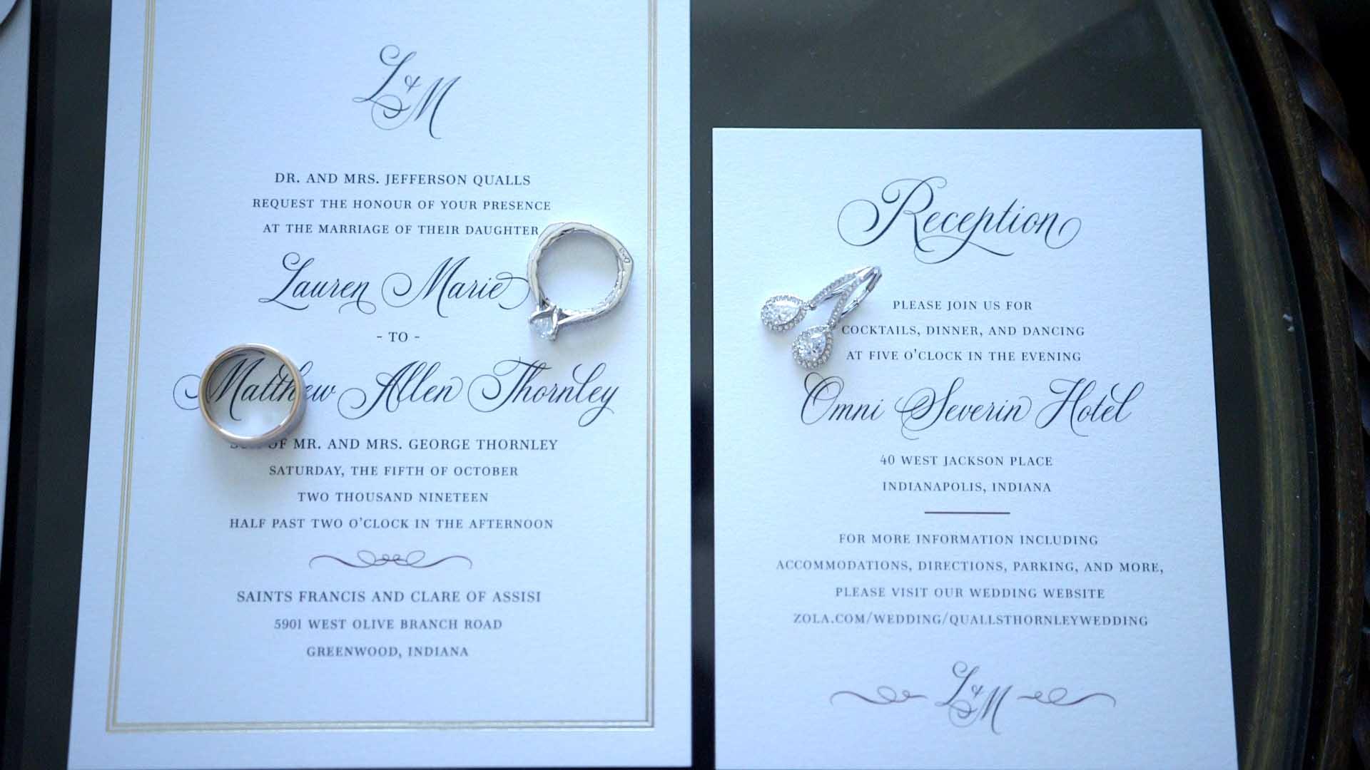 Lauren and Matt's Wedding Video // Filmed at Omni Severin in ...